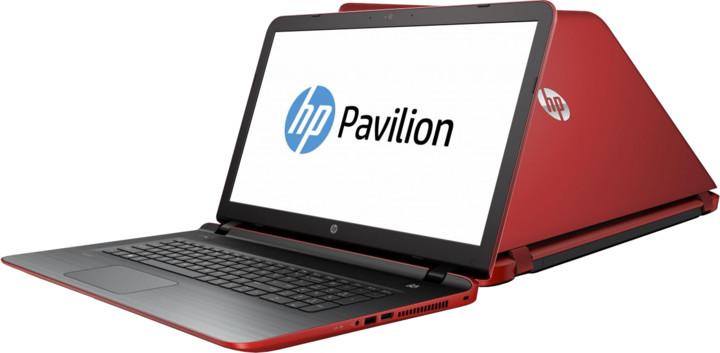 HP Pavilion 17 (17-g108nc), červená