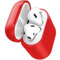 Baseus pouzdro pro sluchátka Airpods s funkcí bezdrátového nabíjení, červená