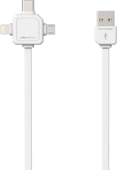 PowerCube Cable 1.5m, USB-C, bílý