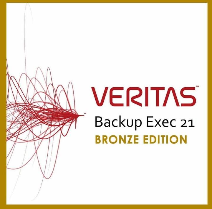 Veritas Backup Exec Bronze, 1 rok, el. Licence OFF