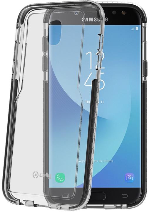 CELLY Hexagon Zadní kryt pro Samsung Galaxy J5 (2017), černý