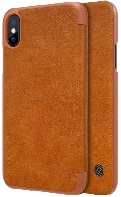 Nillkin Pouzdro Qin Book pro iPhone X, Brown