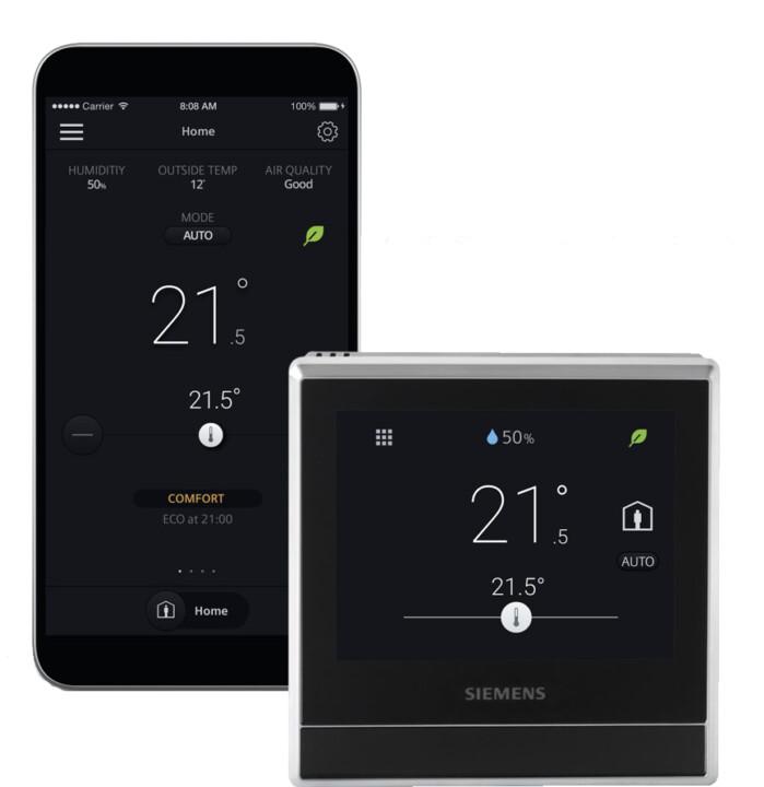 Siemens chytrý termostat RDS110.R, s bezdrátovou komunikací
