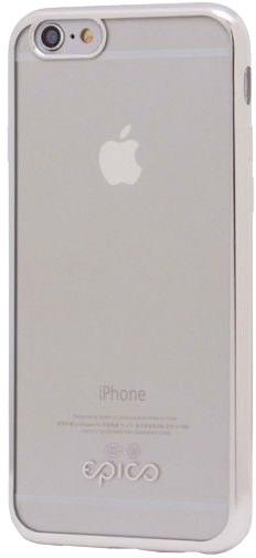 EPICO pružný plastový kryt pro iPhone 5/5S/SE BRIGHT - stříbrná