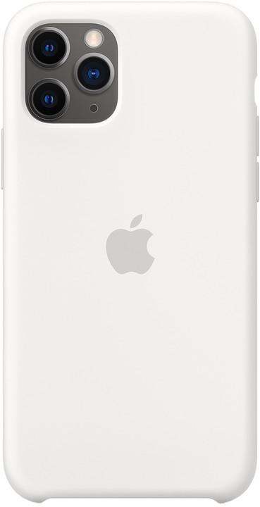 Apple silikonový kryt na iPhone 11 Pro, bílá