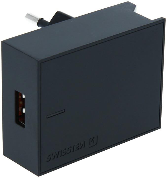 SWISSTEN síťový adaptér pro Huawei s technologií SuperCharger, 22.5W, černá