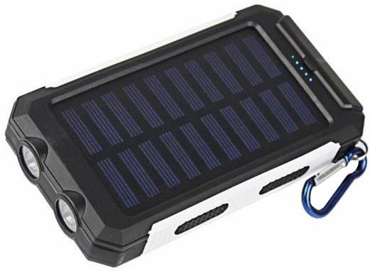 Viking solární outdoorová power banka Delta I 8000mAh, černo-bílá