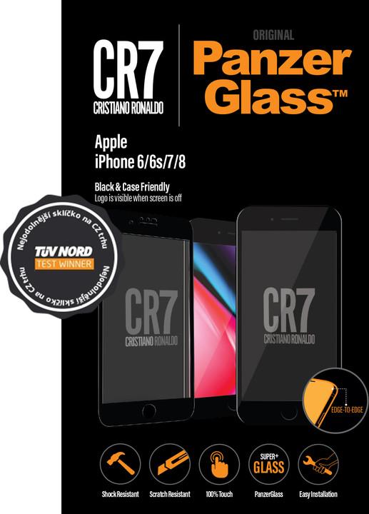PanzerGlass Edge-to-Edge pro Apple iPhone 6/6s/7/8, černé CR7