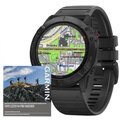 Garmin fenix6x PRO Glass, Black/Black Band
