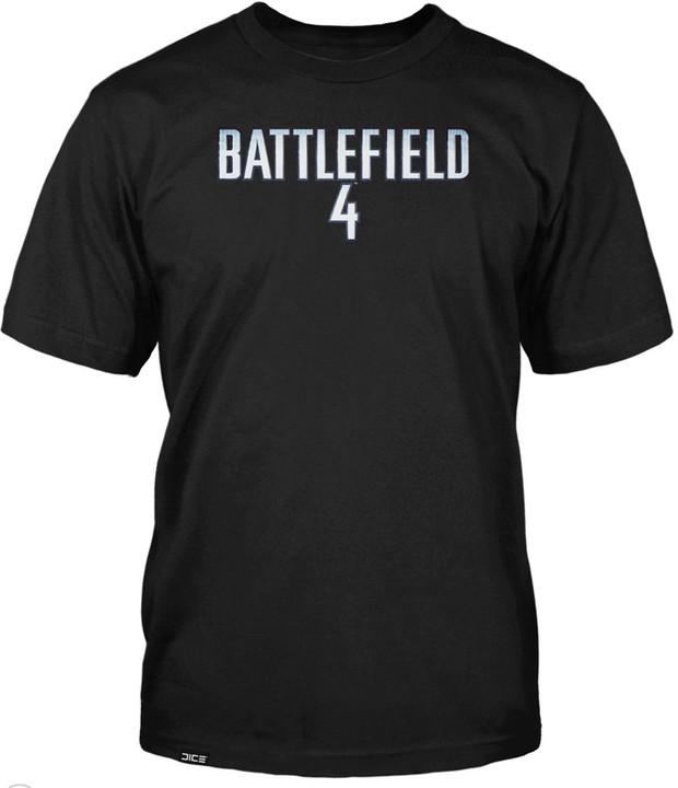 Tričko Battlefield 4 Logo, černá (US M / EU L)