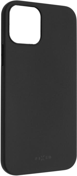 FIXED pogumovaný kryt Story pro iPhone 12/12 Pro, černá