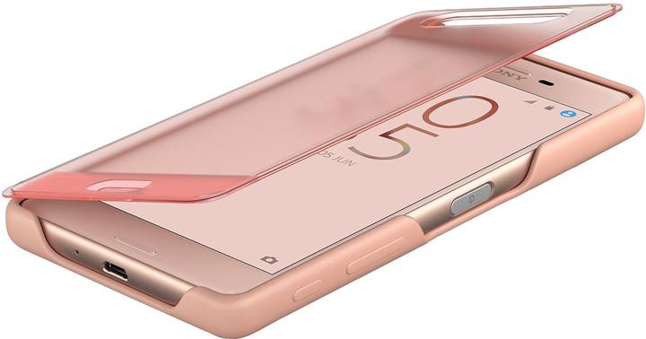 Sony SCR50 Style Cover Touch Xperia X, růžová/zlatá