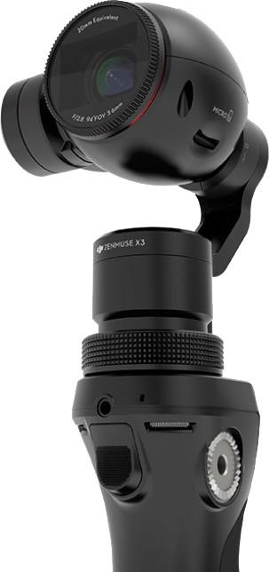 DJI OSMO - ruční stabilizátor kamery s UHD kamerou + mikrofon FM-15 FlexiMic + 2x baterie