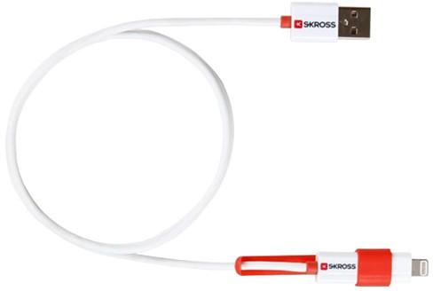 Skross USB 2in1 Charge'n Sync, délka 1m, micro USB a Apple Lightning combo konektor