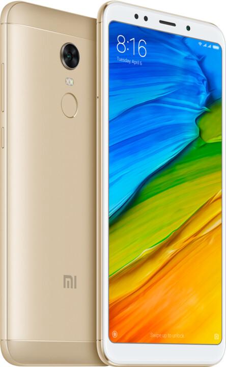 Xiaomi Redmi 5 Plus Global - 64GB, zlatá