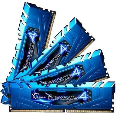 G.SKill Ripjaws4 16GB (4x4GB) DDR4 3000, CL15, blue, rev. II