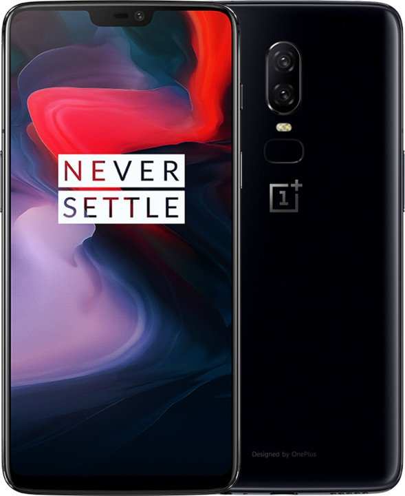 OnePlus 6 128 GB, Černý Leský