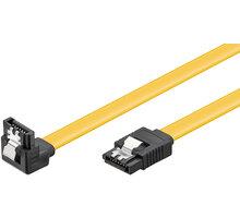 PremiumCord kabel SATA 3.0 kov.západka, 90°, 0,5m