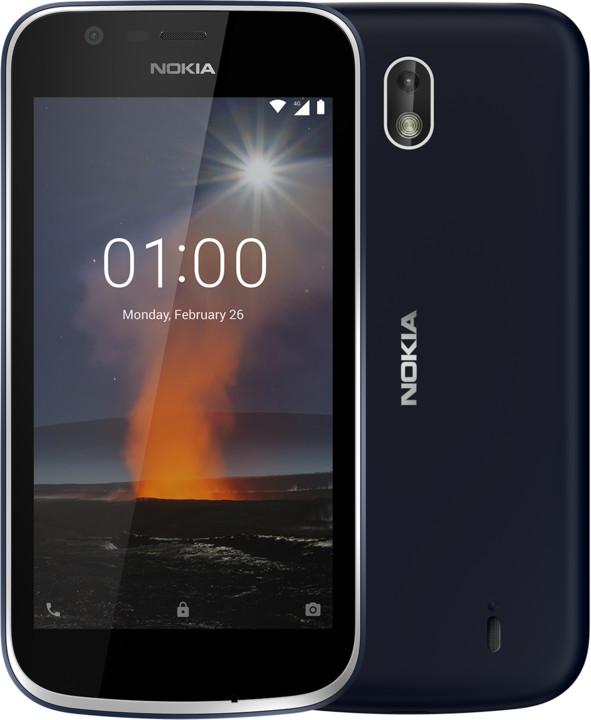 Nokia 1, Dual Sim, modrá