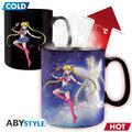 Hrnek Sailor Moon - Sailor & Chibi, měnící se, 460 ml
