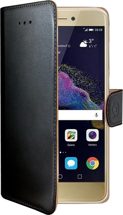CELLY Wally Pouzdro typu kniha pro Huawei P8/P9 Lite (2017), PU kůže, černé