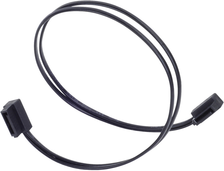 SilverStone Serial ATA III 90° Ultra SLIM cable connector, 300mm black