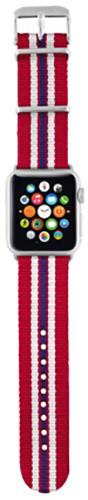 Trust náramek pro Apple Watch 38mm, červená proužky