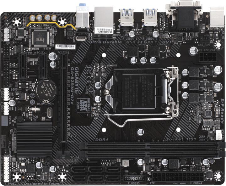 GIGABYTE B250M-D2V - Intel B250
