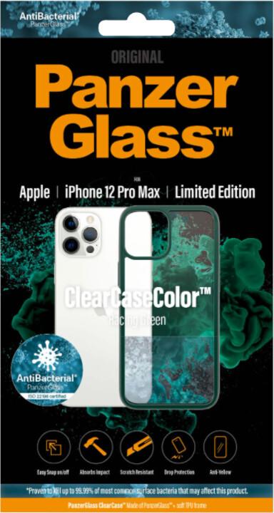 PanzerGlass ochranný kryt ClearCase pro iPhone 12 Pro Max, antibakteriální, zelená