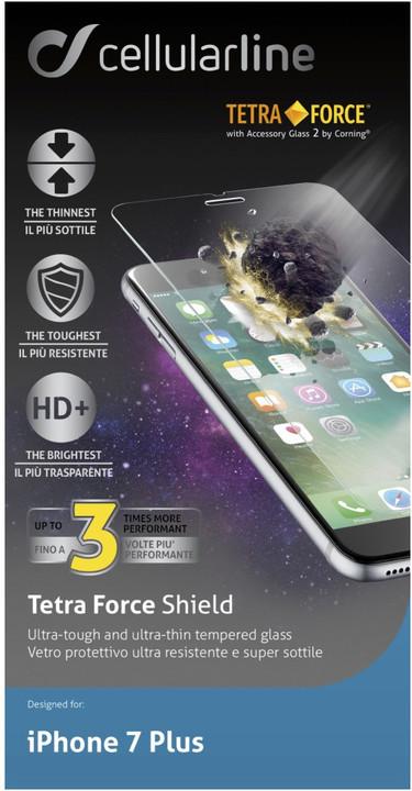 CellularLine TETRA FORCE GLASS prémiové ochranné tvrzené sklo pro Apple iPhone 7 Plus