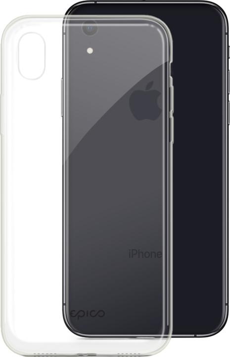 EPICO twiggy gloss ultratenký plastový kryt pro iPhone XR, bílý transparentní