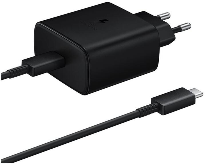 Samsung nabíječka s podporou rychlonabíjení (45W), černá