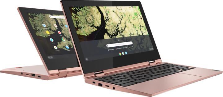Lenovo Chromebook C340-11, růžová