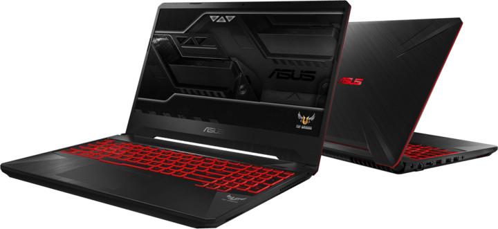 ASUS TUF Gaming FX505DD, černá