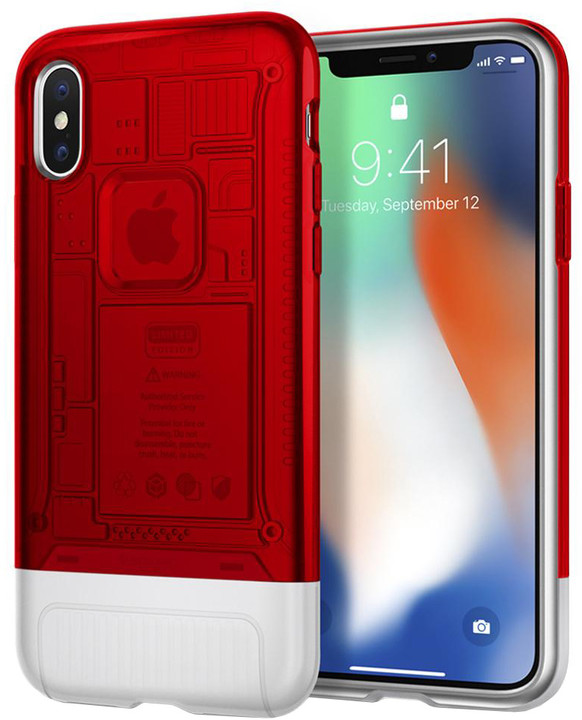 Spigen Classic C1 pro iPhone X, červená