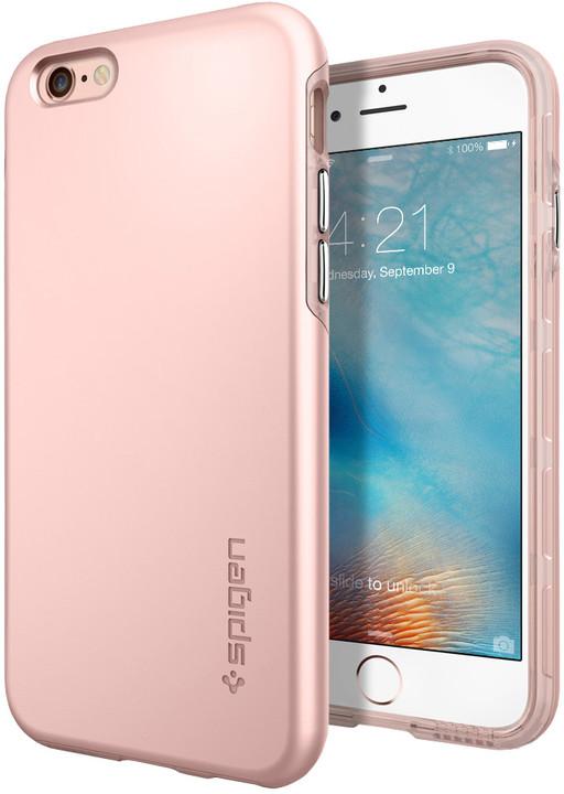 Spigen pouzdro Thin Fit Hybrid pro iPhone 6/6s, zlatá