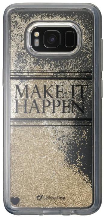 Cellularline Stardust gelové pouzdro pro Samsung Galaxy S8, motiv Happen