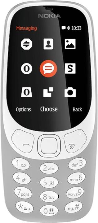 Nokia 3310, Single Sim, šedá