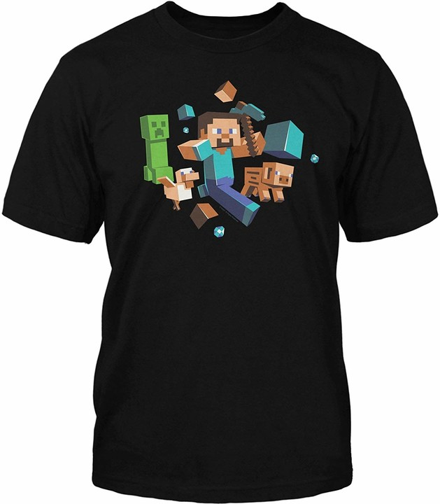 Minecraft Run Away! Glow in the Dark, dětské (XL)