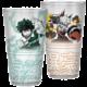 Sklenice My Hero Academia - Izuku a Bakugo
