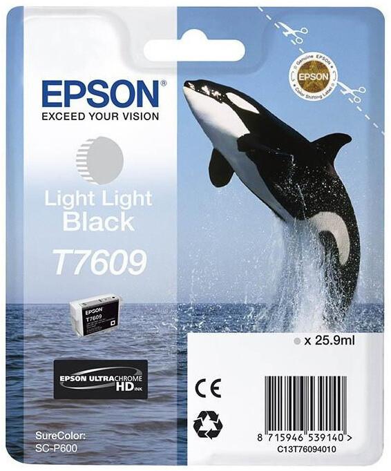 Epson T7609, (25,9ml), light light black