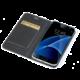 CELLY Air pouzdro typu kniha pro Samsung Galaxy S7 Edge, PU kůže, černá