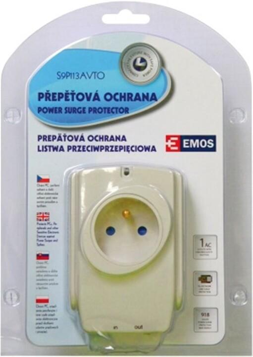 Emos přepěťová ochrana, 1 zásuvka