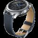 Samsung náramek ET-YSL76MNEG Leather Strap Gear S3, modrý