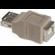 PremiumCord USB redukce A-B, F/F