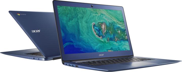 Acer Chromebook 14 celokovový (CB3-431-C6R8), modrá