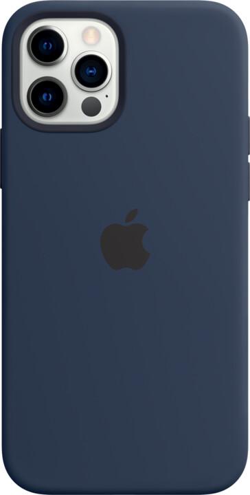 Apple silikonový kryt s MagSafe pro iPhone 12/12 Pro, tmavě modrá