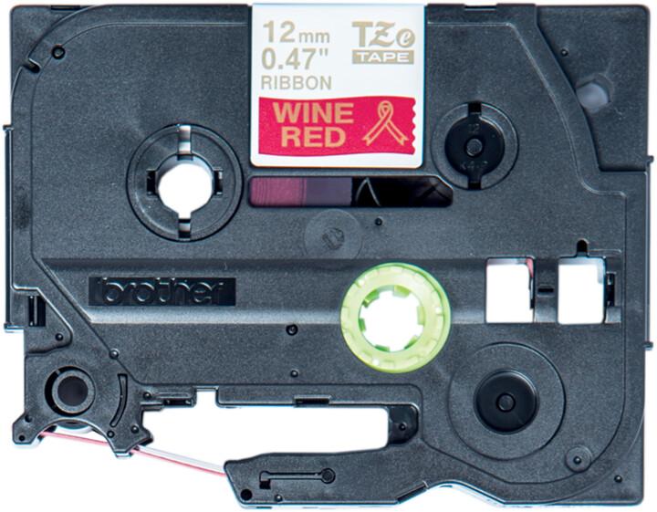 Brother TZE-RW34 vínově červená / zlatá, 12 mm, 4m