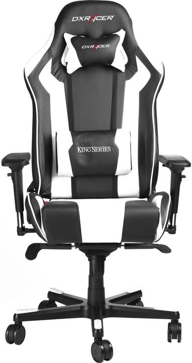 DXRacer King OH/KS06/NW, černá/bílá