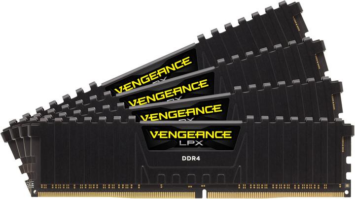 Corsair Vengeance LPX 32GB (4x8GB) DDR4 2666 CL15, černá